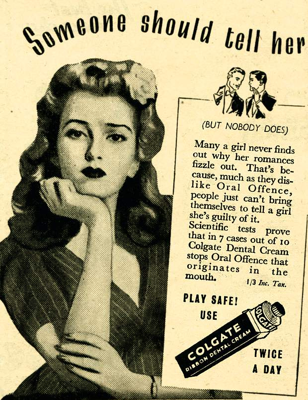 Advertisements from long, long ago — relationship savers edition — bluebird of bitterness